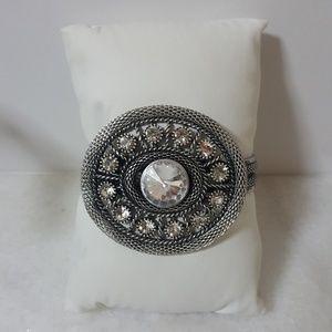 Large Silver Statement Bracelet
